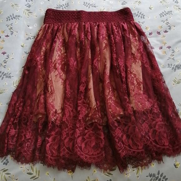 Rue 21 Burgundy skirt size medium
